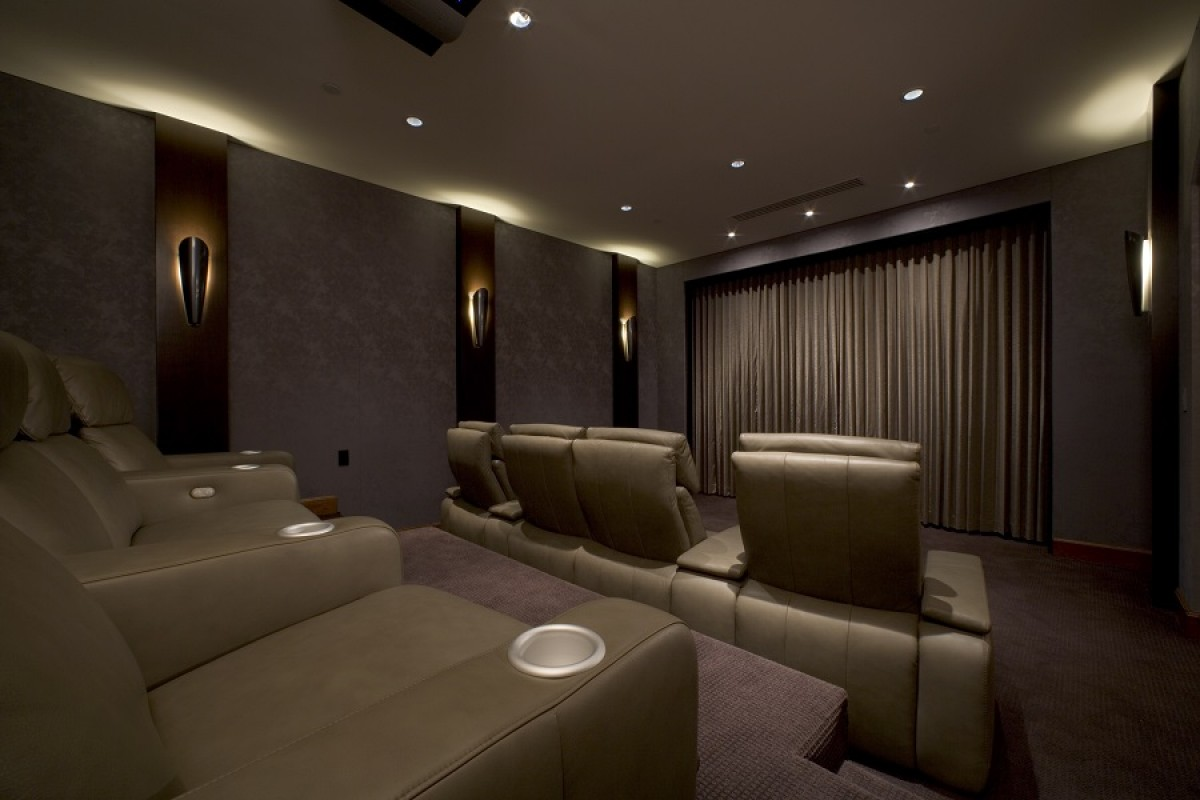Home Theater With Smart Lighting